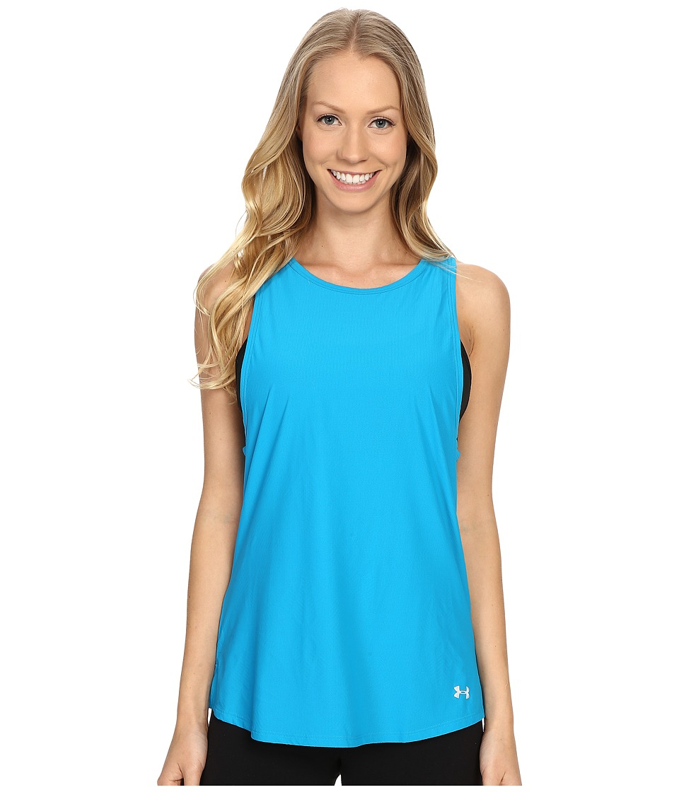 Under Armour - Coolswitch Run Tank Top (Aqua Blue/Reflective) Women's Sleeveless