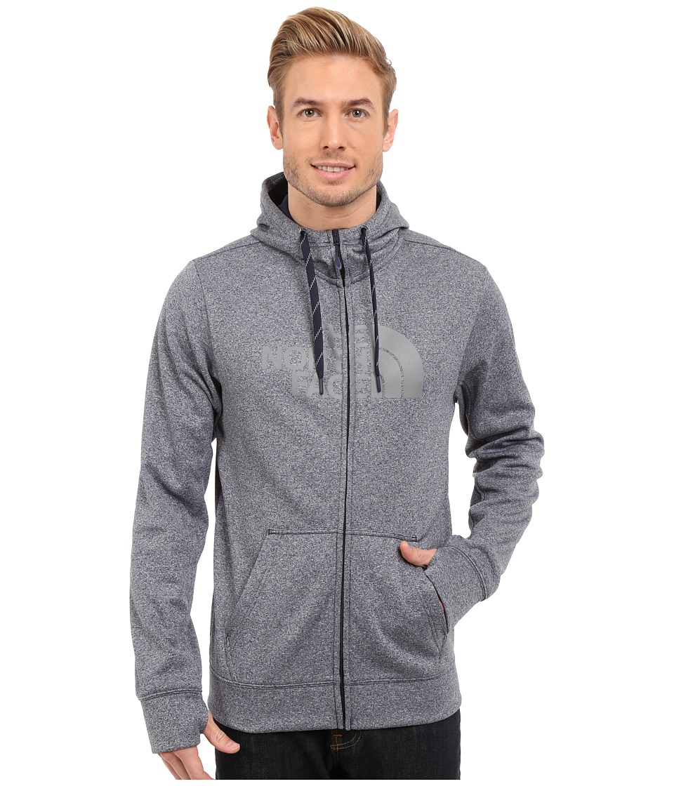 The North Face - Surgent Half Dome Full Zip Hoodie (Cosmic Blue Heather/Mid Grey) Men's Sweatshirt