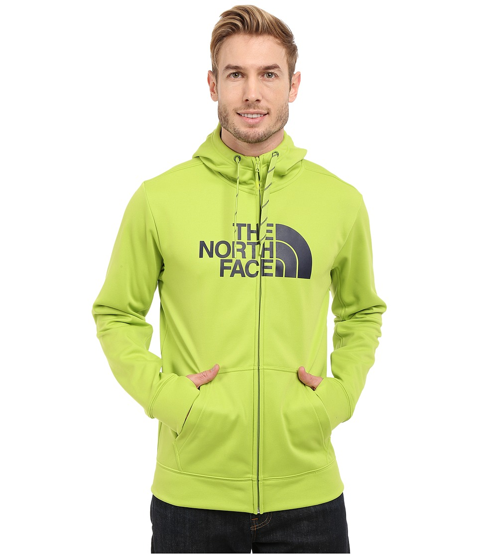 The North Face - Surgent Half Dome Full Zip Hoodie (Macaw Green/Cosmic Blue) Men's Sweatshirt