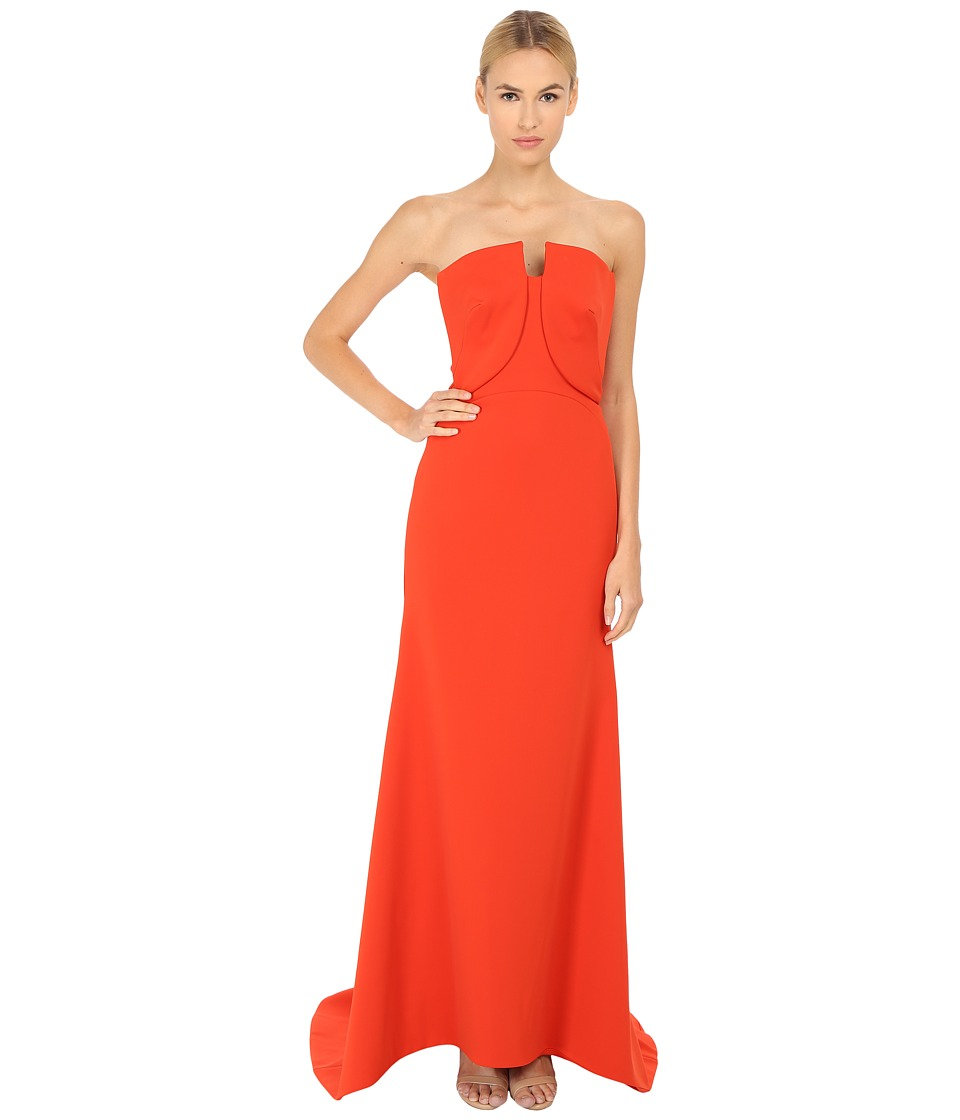Zac Posen - 06-8339-49 (Orange) Women's Dress