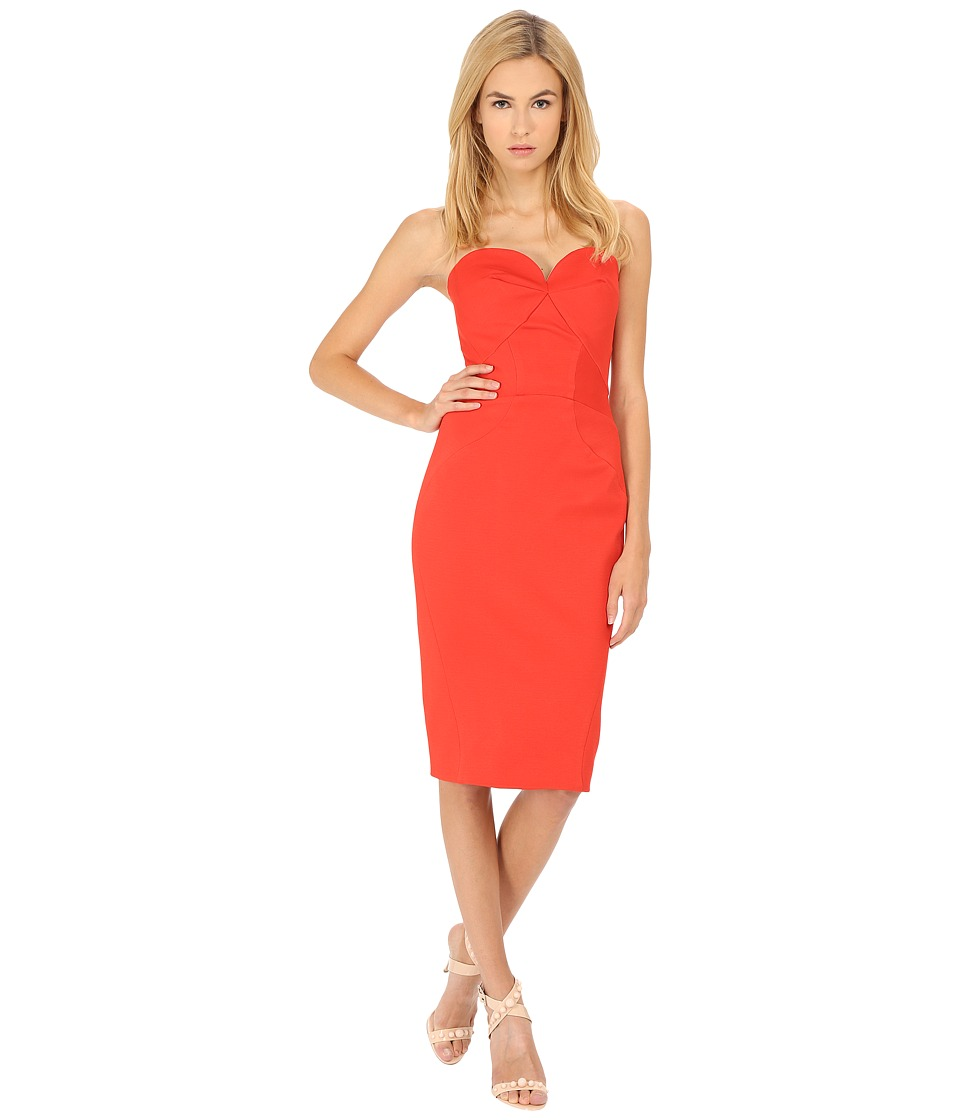 Zac Posen - 40-5307-49 (Coral) Women's Dress