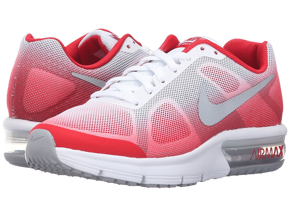 Nike Kids - Air Max Sequent (Big Kid) (University Red/Wolf Grey/University Red/Metallic Silver) Boys Shoes
