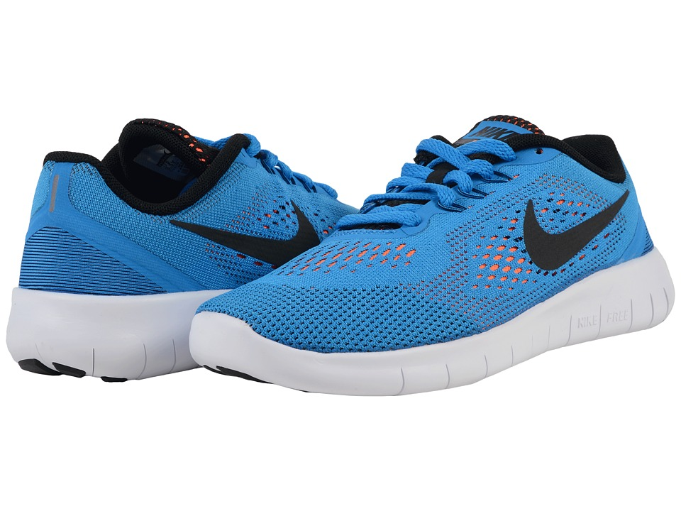 Nike Kids Free RN (Big Kid) (Photo Blue/Total Orange/White/Black) Boys Shoes