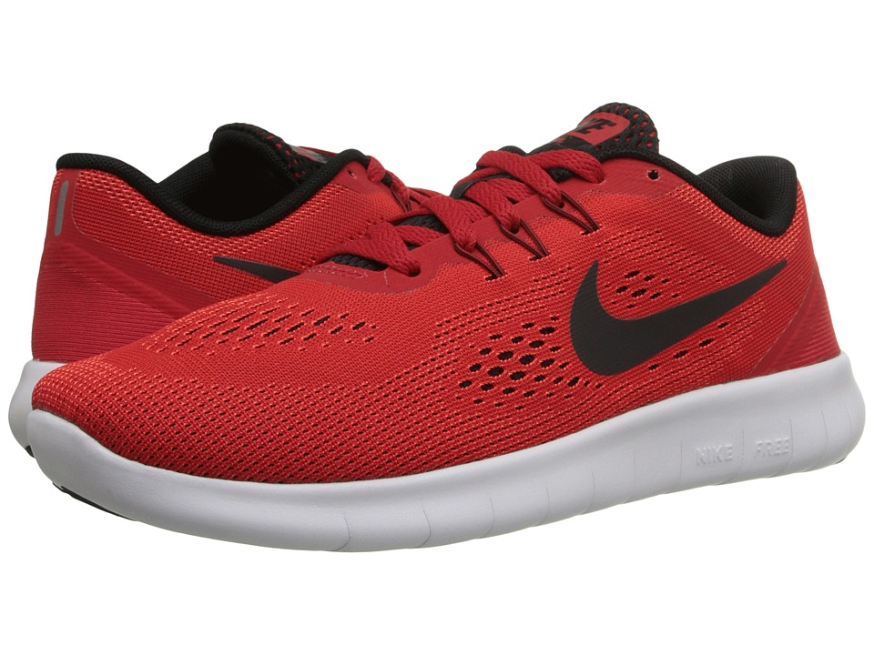 Nike Kids - Free RN (Big Kid) (University Red/White/Black) Boys Shoes