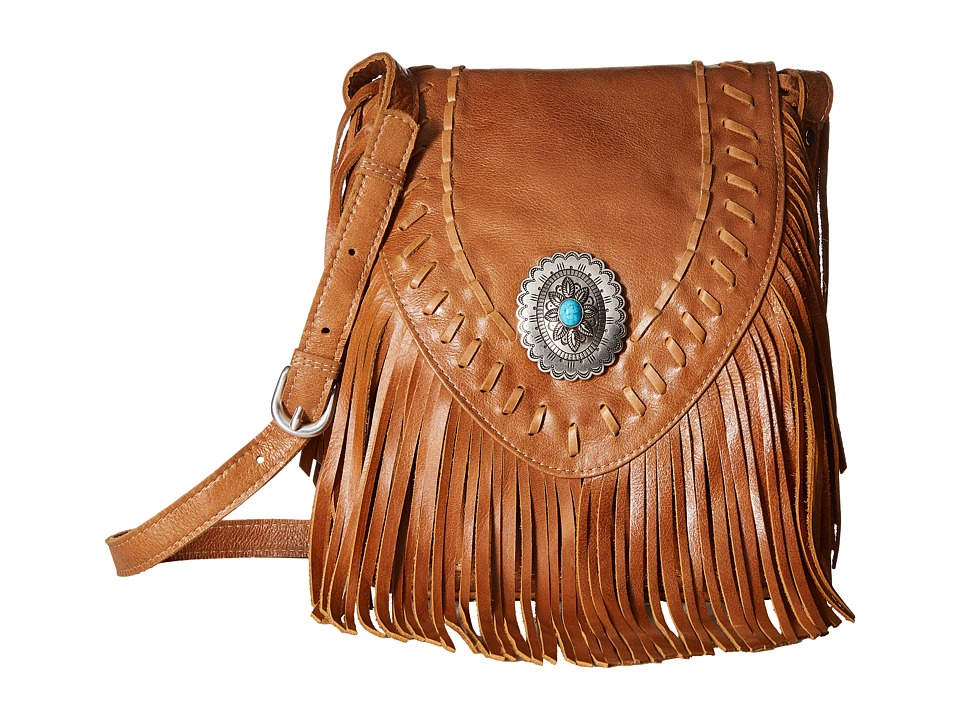 American West - Seminole Soft Fringe Crossbody (Deerskin) Cross Body Handbags