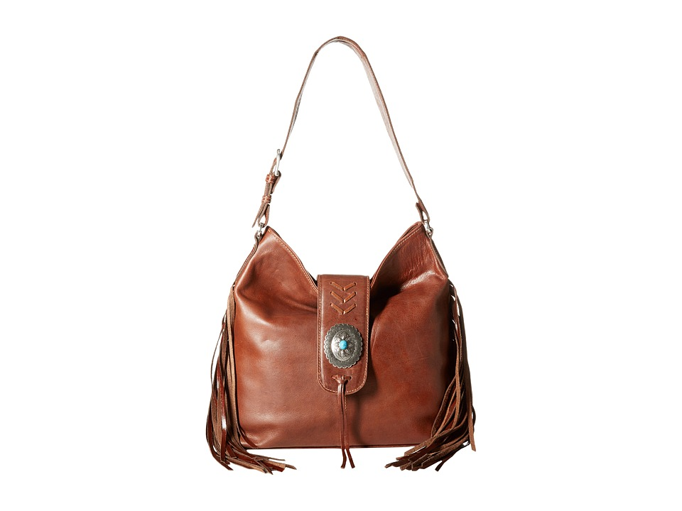 American West - Seminole Soft Slouch Hobo (Tobacco) Hobo Handbags