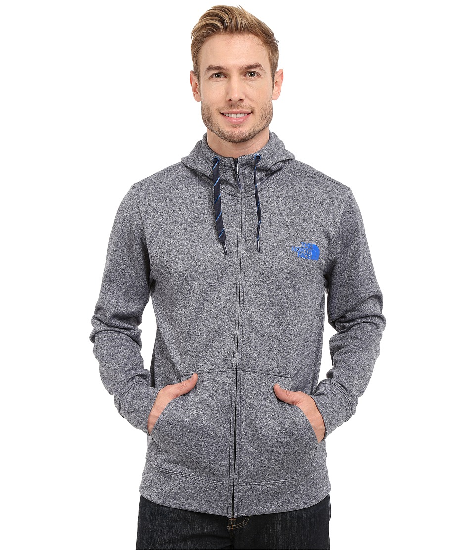 The North Face - Surgent LFC Full Zip Hoodie (Cosmic Blue Heather/Bomber Blue) Men's Sweatshirt