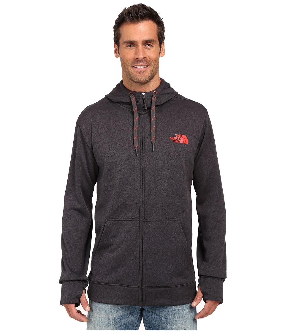 The North Face - Surgent LFC Full Zip Hoodie (TNF Dark Grey Heather/Fiery Red) Men's Sweatshirt