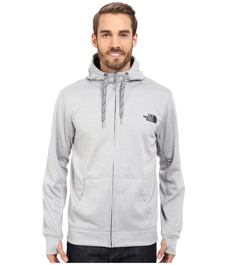 The North Face - Surgent LFC Full Zip Hoodie (TNF Light Grey Heather/Cosmic Blue) Men's Sweatshirt