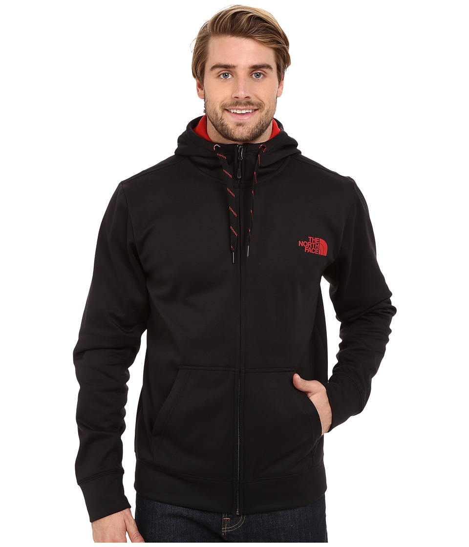 The North Face - Surgent LFC Full Zip Hoodie (TNF Black/Pompeian Red) Men's Sweatshirt