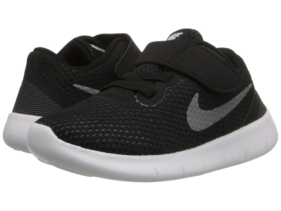 Nike Kids - Free RN (Infant/Toddler) (Black/Anthracite/Metallic Silver) Boys Shoes