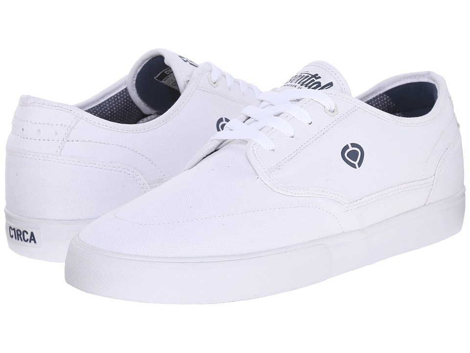 Circa - Essential (White/Dark Denim) Men's Skate Shoes