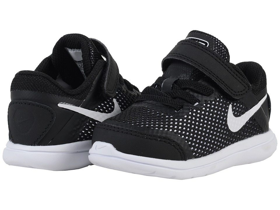 Nike Kids Flex 2016 RN (Infant/Toddler) (Black/White) Boys Shoes
