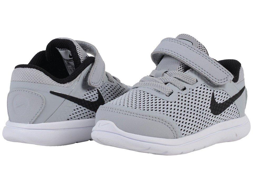 Nike Kids - Flex 2016 RN (Infant/Toddler) (Black/White) Boys Shoes