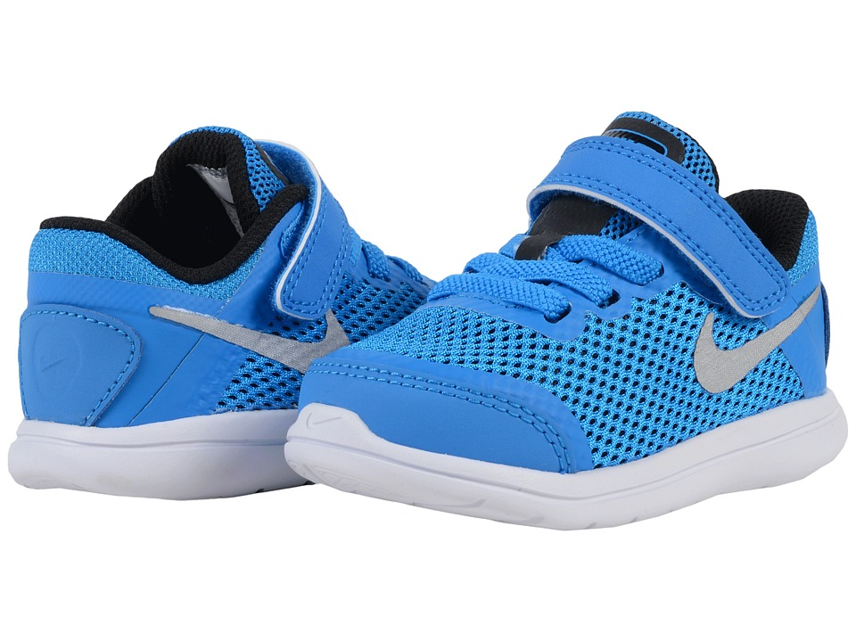 Nike Kids - Flex 2016 RN (Infant/Toddler) (Photo Blue/Black/White/Metallic Silver) Boys Shoes