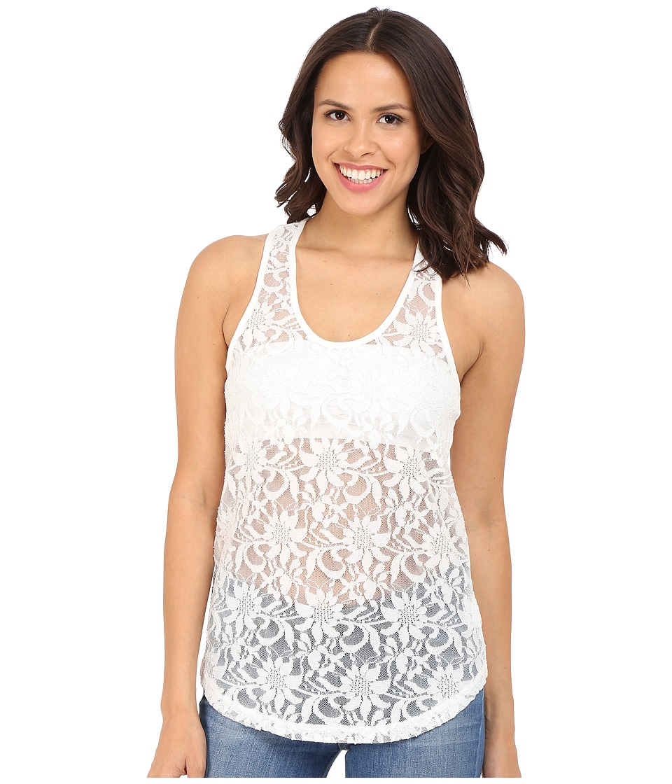 Ariat - Lace Twist Tank Top (White) Women's Blouse