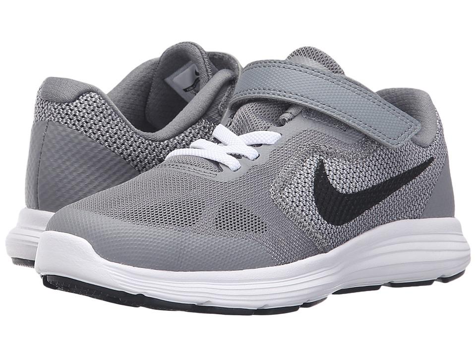 Nike Kids - Revolution 3 (Little Kid) (Cool Grey/White Wolf Grey/Black) Boys Shoes