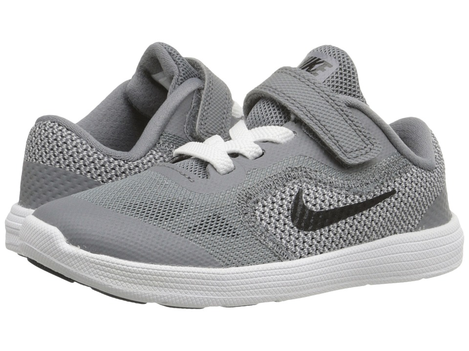 Nike Kids - Revolution 3 (Infant/Toddler) (Cool Grey/White/Wolf Grey/Black) Boys Shoes