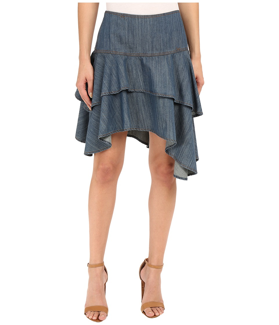 Ariat - Haley Chambray Tier Skirt (Riviera) Women's Skirt plus size,  plus size fashion plus size appare