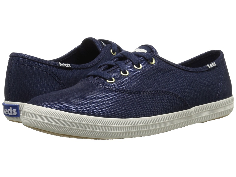 Keds - Champion Metallic Canvas (Navy Metallic) Women's Lace up casual Shoes