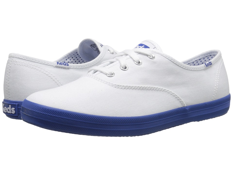 Keds - Champion Oxford (White/Blue) Women