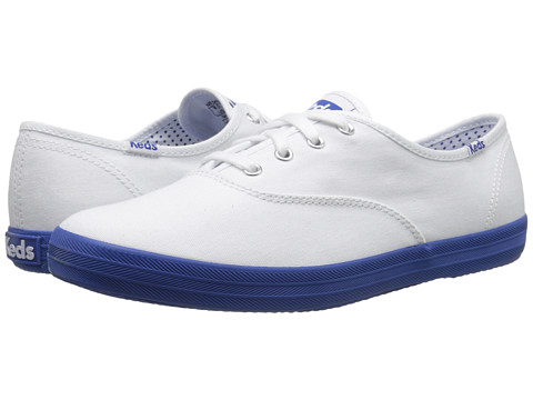 Keds - Champion Oxford (White/Blue) Women's Lace up casual Shoes