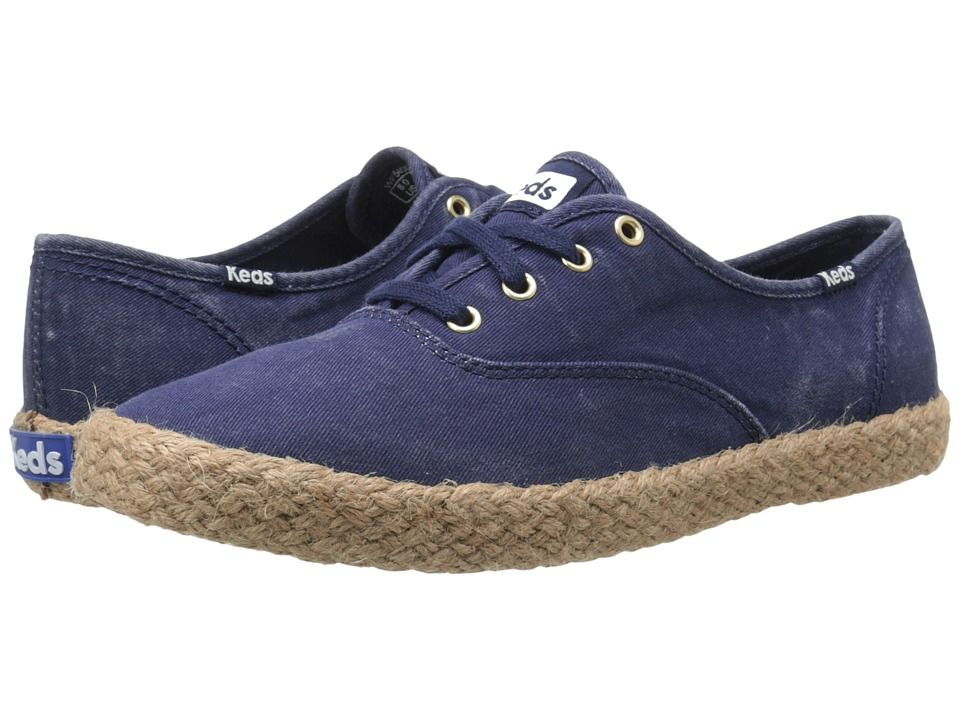 Keds Champ Washed Jute (Navy) Women