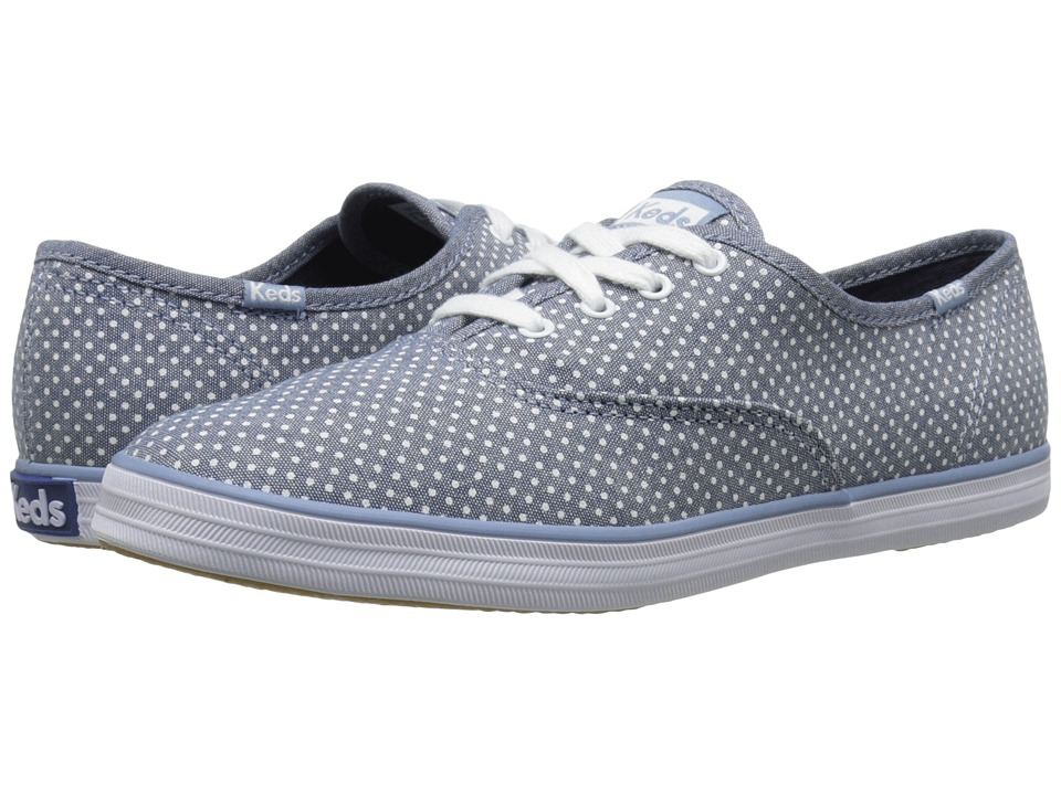 Keds - Champion Micro Dot (Blue) Women's Lace up casual Shoes