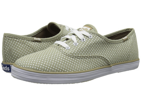 Keds - Champion Micro Dot (Olive) Women's Lace up casual Shoes
