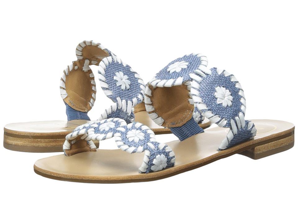 Jack Rogers - Lauren Raffia (Blue Raffia) Women's Sandals