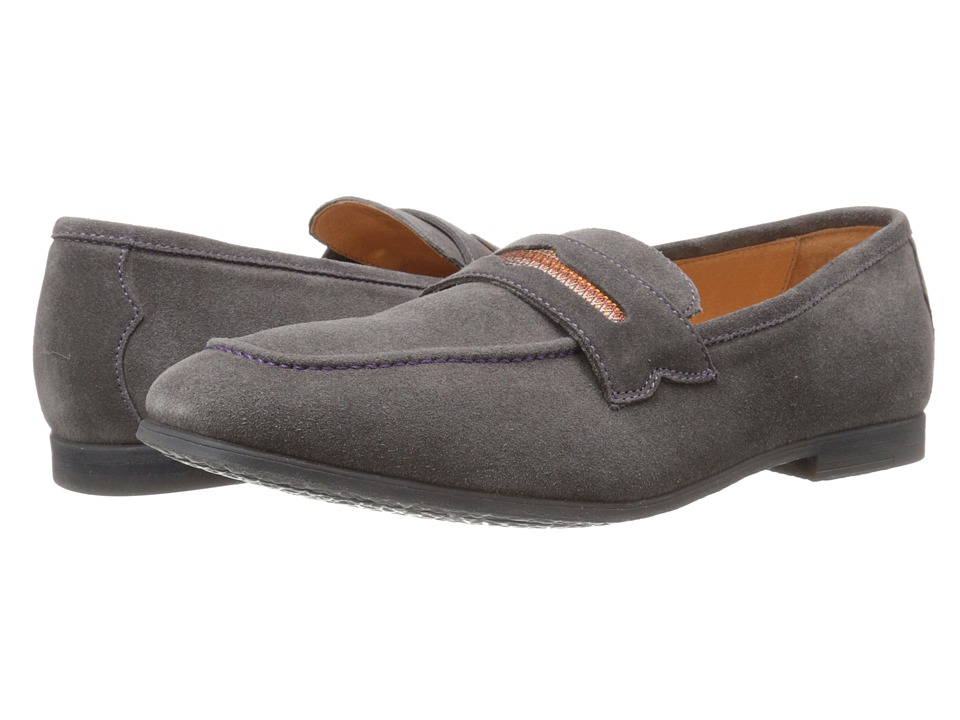Robert Graham - Sandhills (Grey Velour Suede) Men's Slip on Shoes