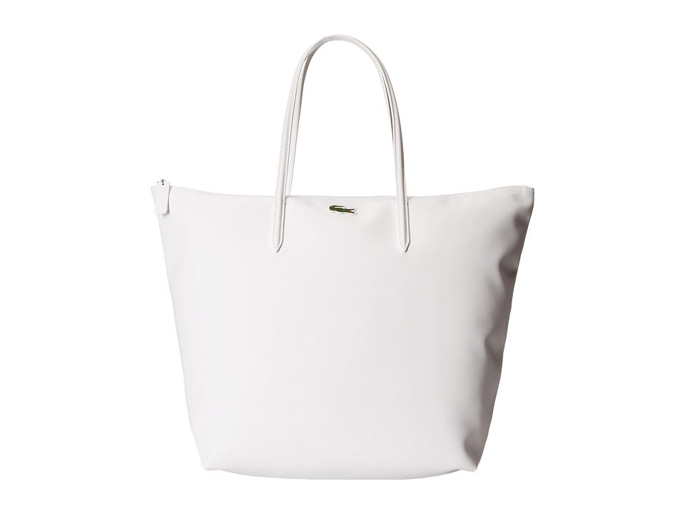 Lacoste - L1212 Concept Travel Shopping Bag (Bright White) Tote Handbags