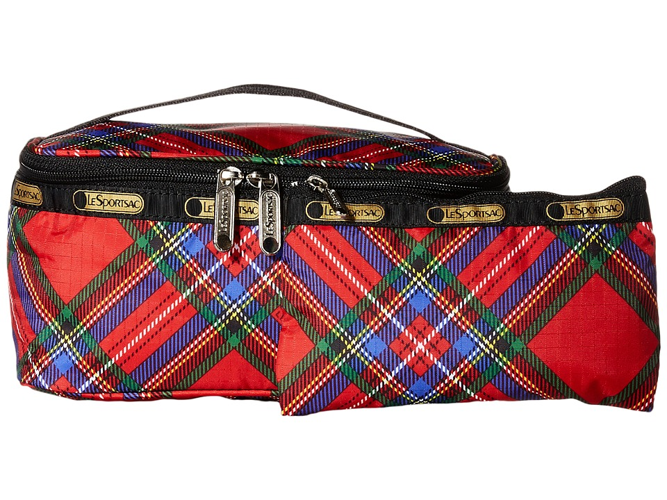 LeSportsac Luggage - Rectangular Train Case (Cozy Plaid Red) Cosmetic Case