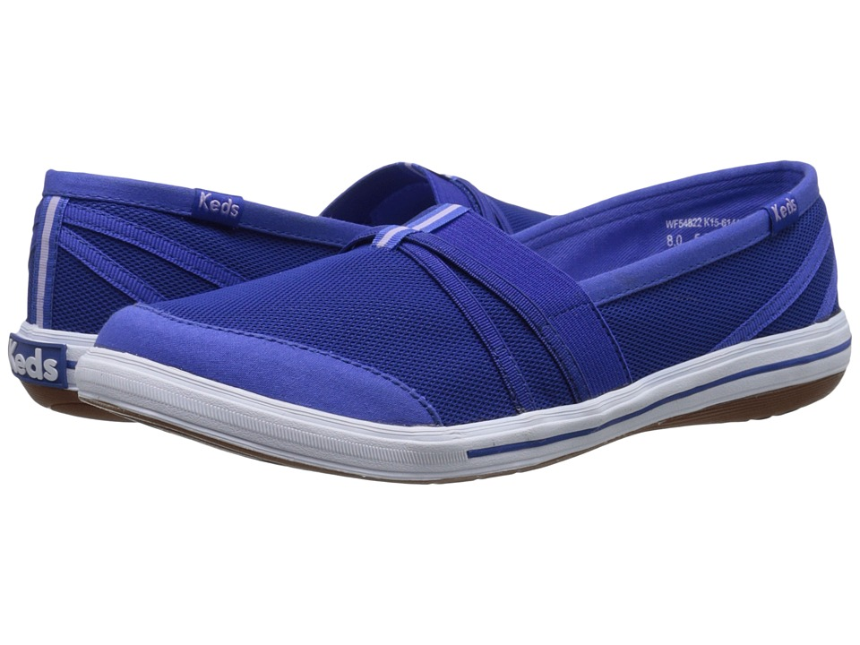 Keds - Summer Slip-On (Blue Mesh) Women's Slip on Shoes