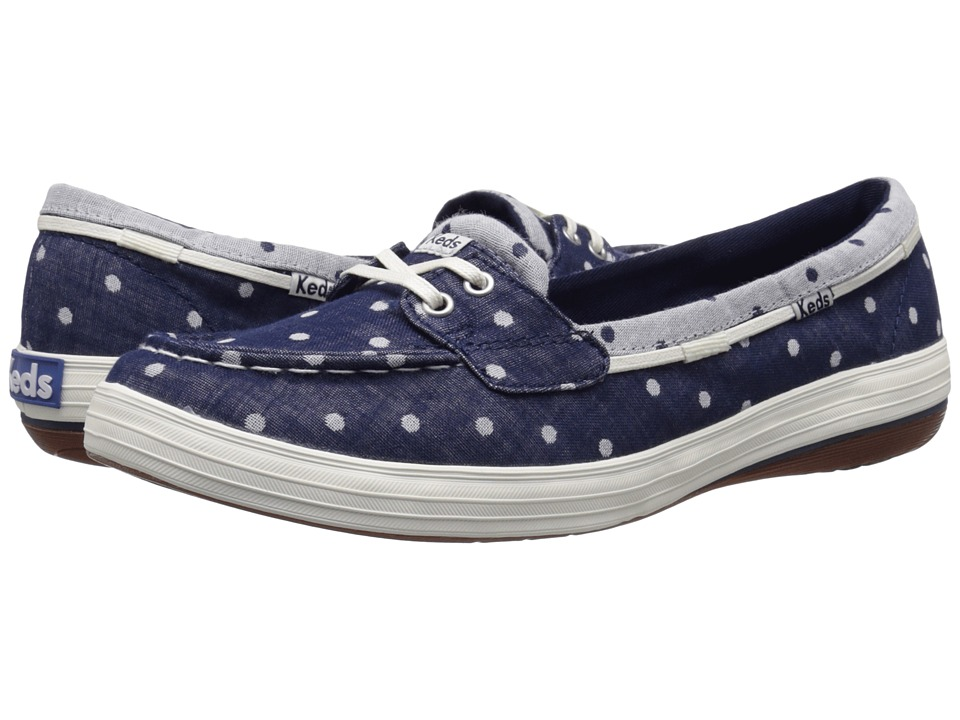 Keds - Glimmer Boat (Navy Dot) Women's Shoes