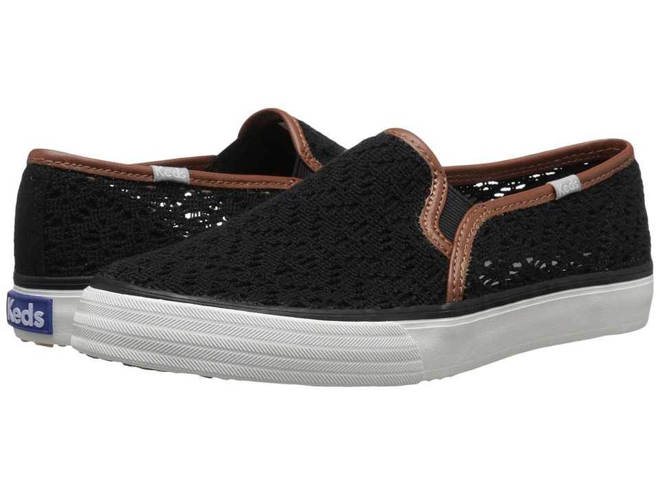 Keds - Double Decker Crochet (Black) Women's Shoes