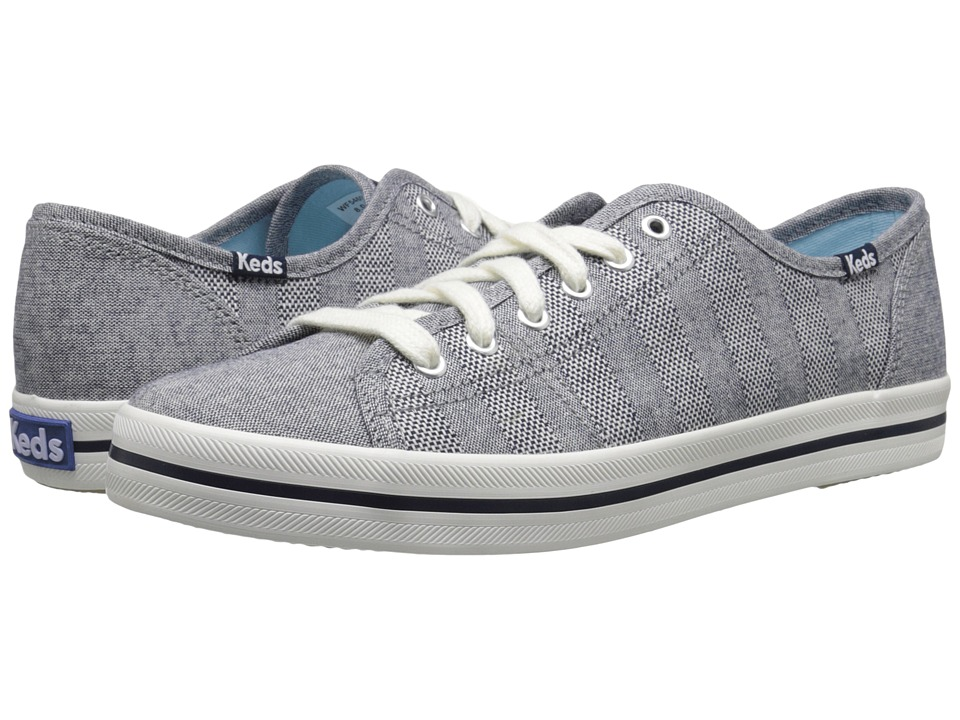 Keds - Kickstart Chambray Stripe (Navy) Women's Shoes