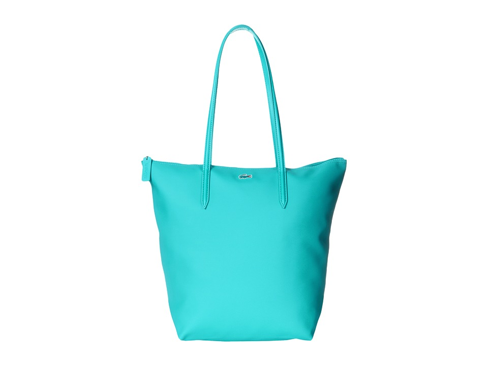Lacoste - L.12.12 Concept M1 Vertical Tote Bag (Peacock Blue) Tote Handbags