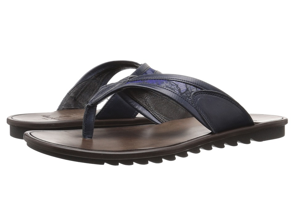 Robert Graham - Iggy (Navy Icaru Lux Leather/Textile) Men's Sandals