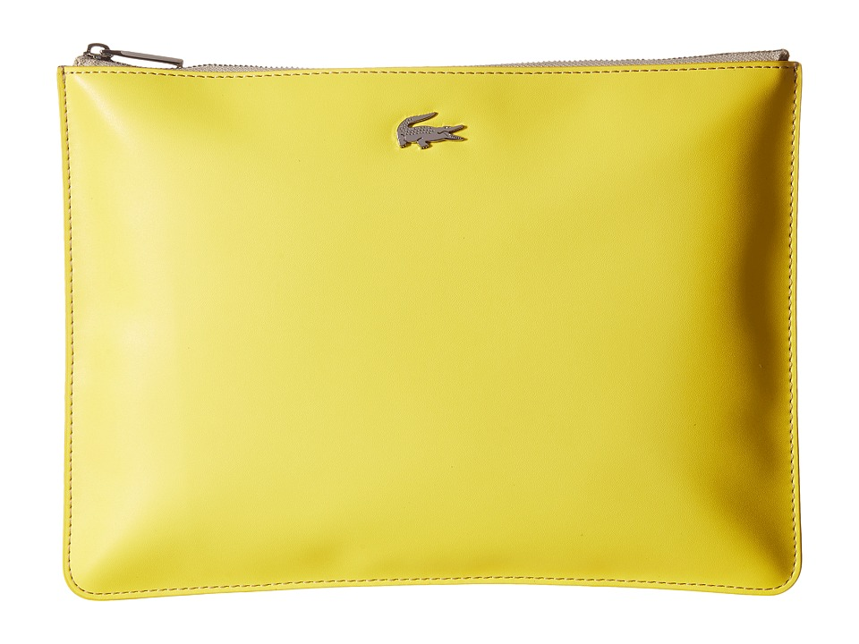Lacoste - Large Clutch (Beige Blue) Clutch Handbags