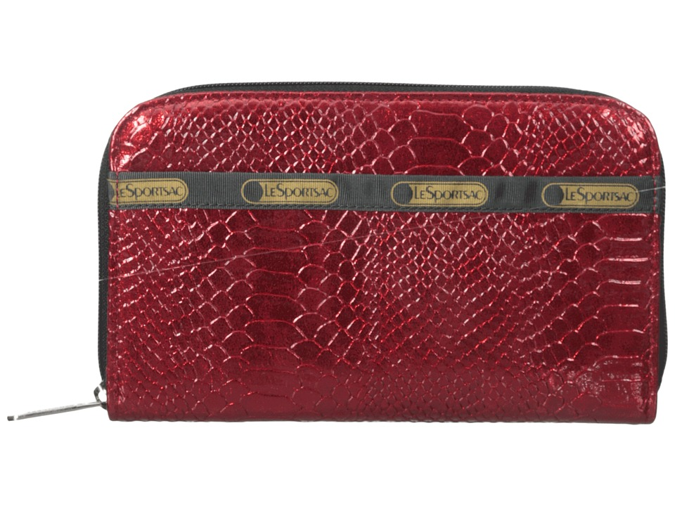 LeSportsac - Lily (Red Snake) Checkbook Wallet