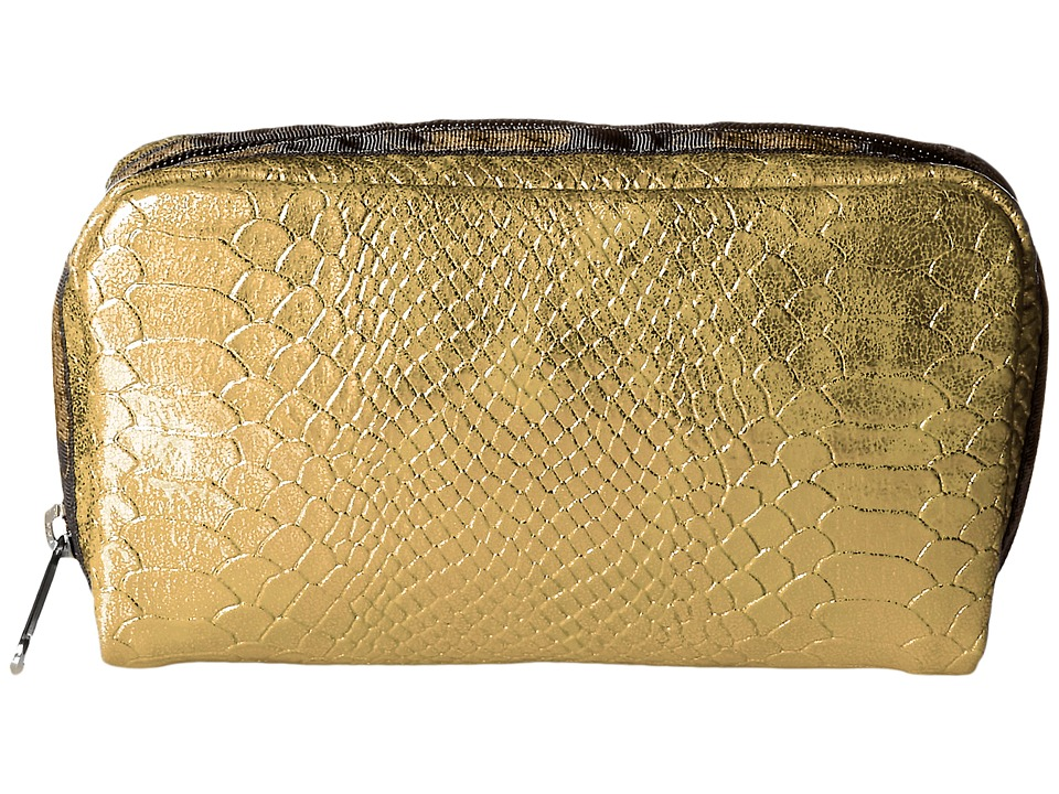 LeSportsac - Rectangular Cosmetic (Gold Snake) Clutch Handbags