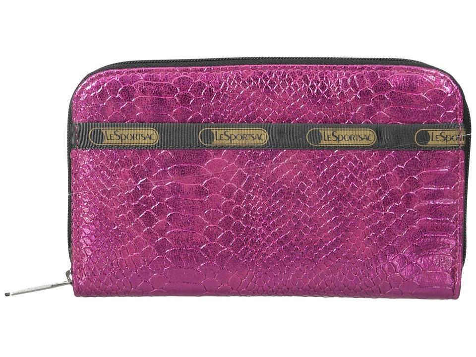 LeSportsac - Lily (Pink Snake) Checkbook Wallet