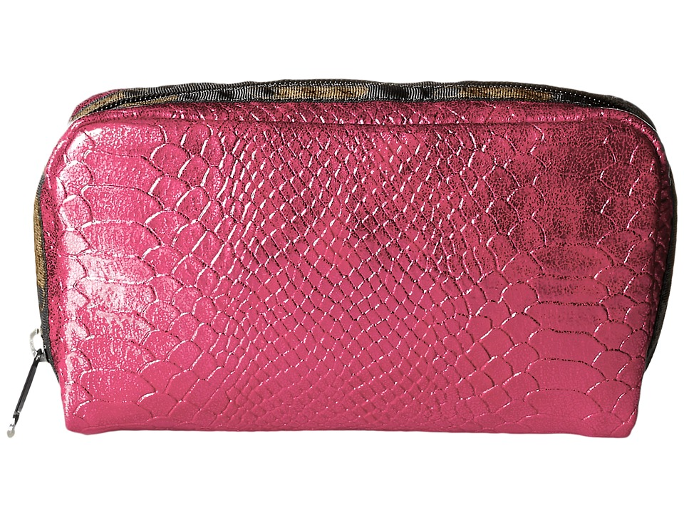 LeSportsac - Rectangular Cosmetic (Pink Snake) Clutch Handbags
