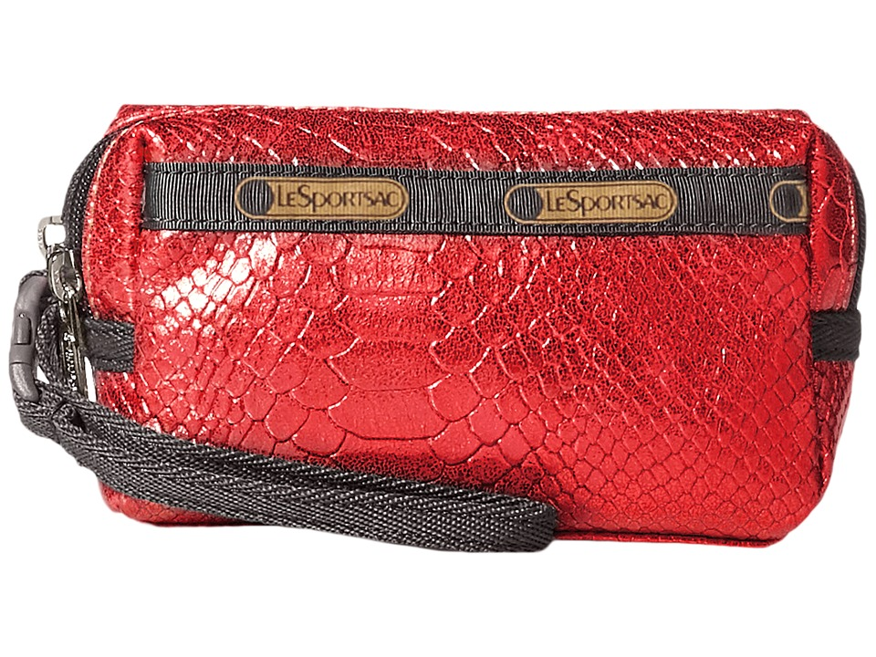 LeSportsac - Small 2 Zip Wristlet (Red Snake) Wristlet Handbags