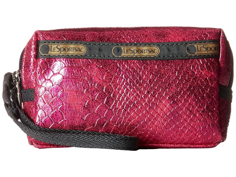 LeSportsac - Small 2 Zip Wristlet (Pink Snake) Wristlet Handbags