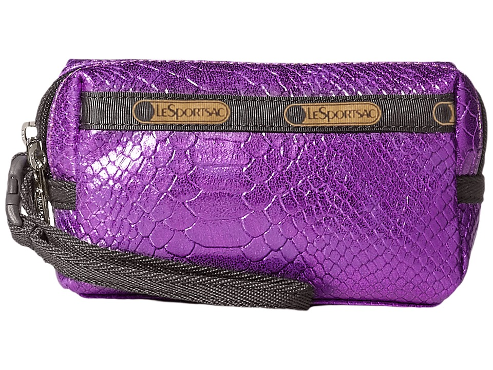 LeSportsac - Small 2 Zip Wristlet (Purple Snake) Wristlet Handbags