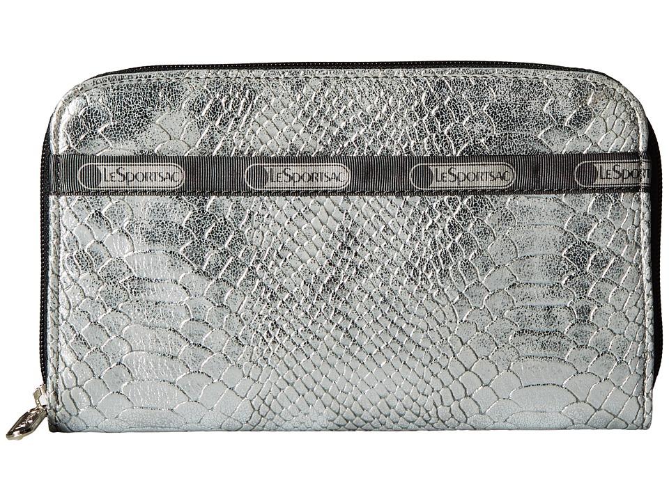 LeSportsac - Lily (Silver Snake) Checkbook Wallet