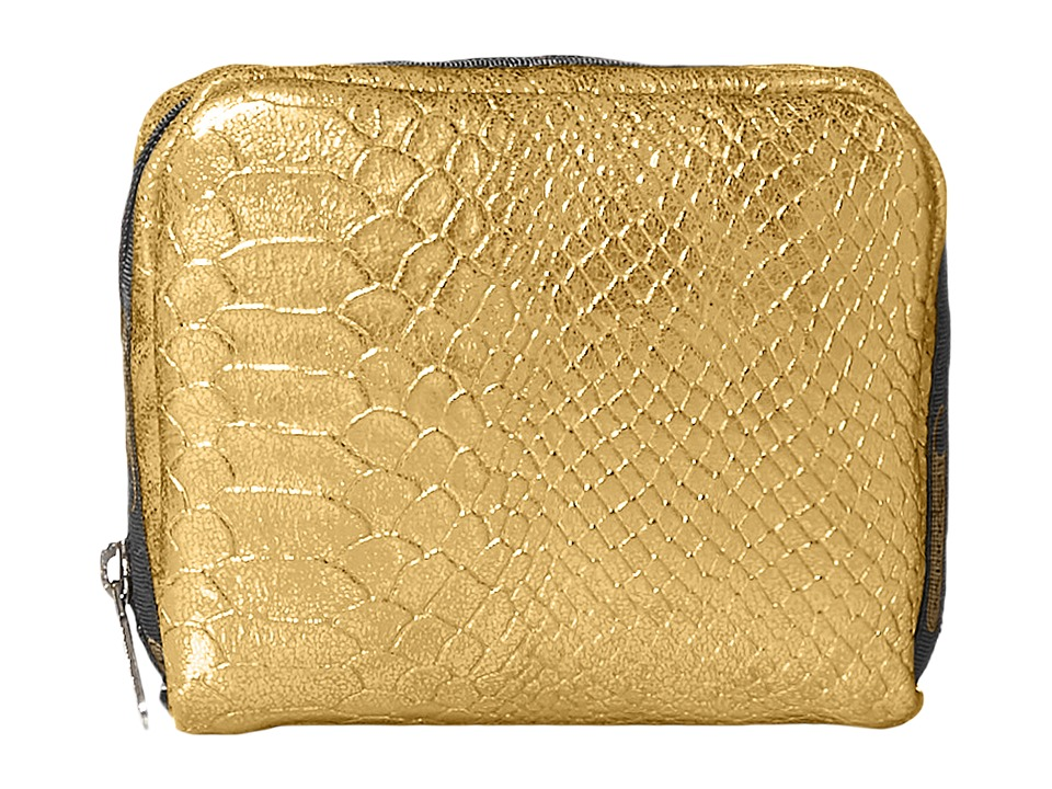 LeSportsac - Square Cosmetic Case (Gold Snake) Cosmetic Case