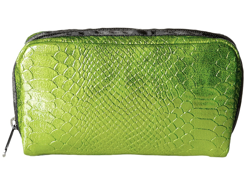 LeSportsac - Rectangular Cosmetic (Green Snake) Clutch Handbags